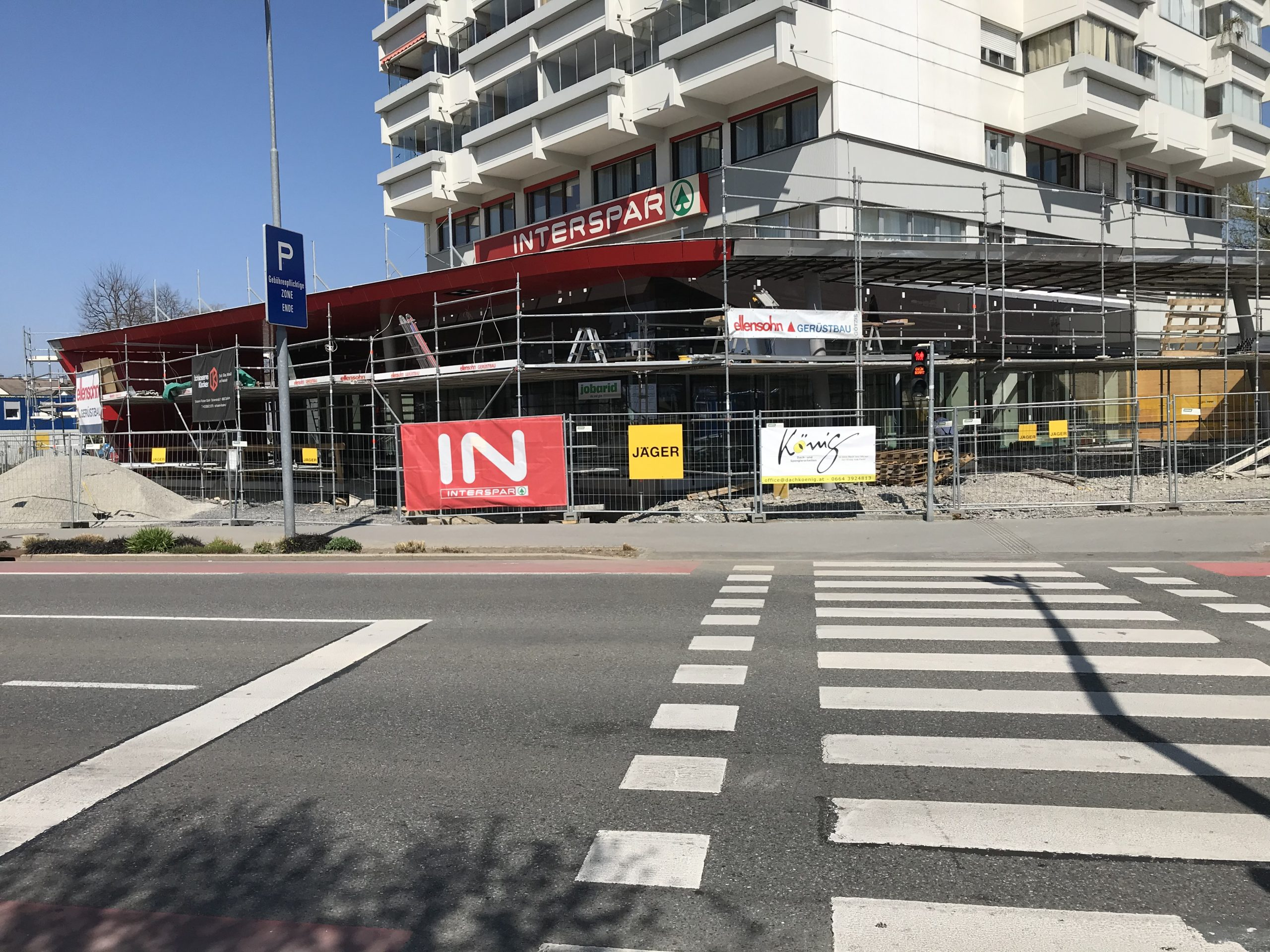 Unsere Interspar-Baustelle in Bregenz geht immer weiter!